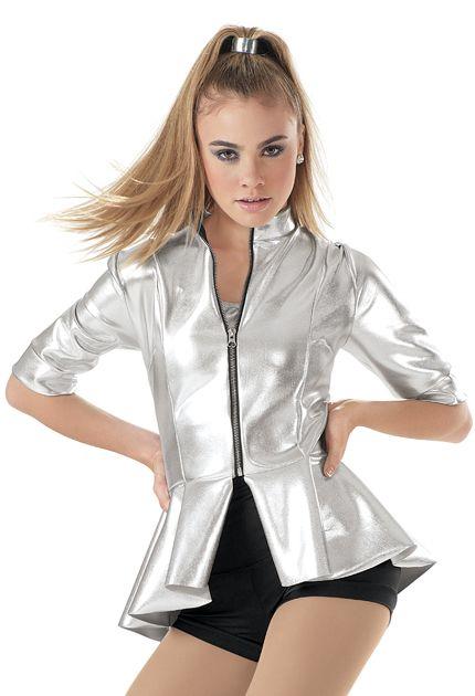 Weissman™ | Metallic Neoprene Peplum Jacket