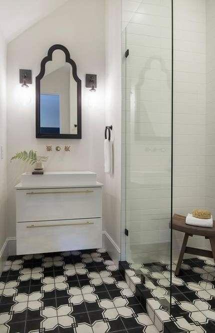 24 Ideas Bathroom Grey Floor Tile Shower Curtains For 2019 Bathroom Black Bathroom Floor Black Bathroom Floor Tiles Bathroom Floor Tiles