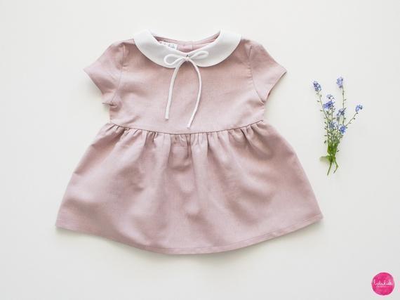 Dieser Artikel Ist Nicht Verfugbar Linen Dress Peter Pan Collar Dress Girl Outfits