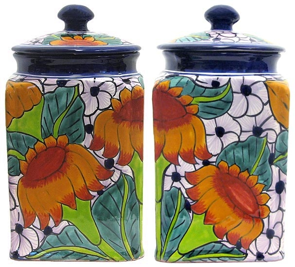 Vintage Tin Kitchen Canisters Set  Made By Two S Company
