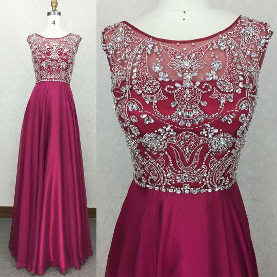 Burgundy Prom Dresses,Long Evening Dresses