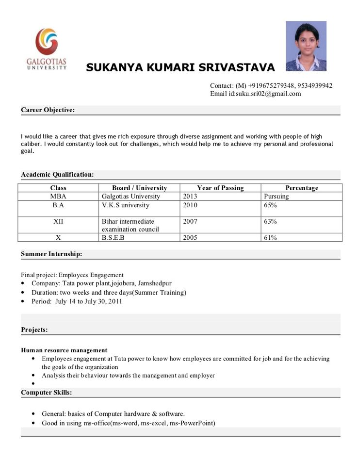 Best 25+ Examples of resume objectives ideas on Pinterest Good - career objective for resume for mba