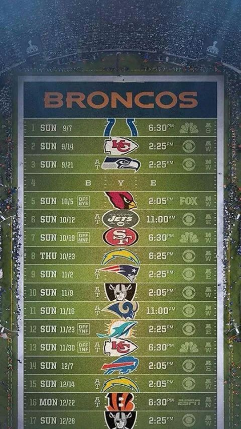 Broncos schedule 2014
