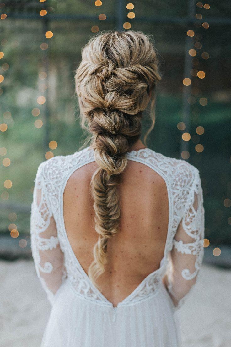 Long Hair Wedding Hairstyle Ideas Braid Hair Braid Herringbone Braid Bridal Braid Hairstyle Herringbone Brautfrisur Haare Hochzeit Flechtfrisuren