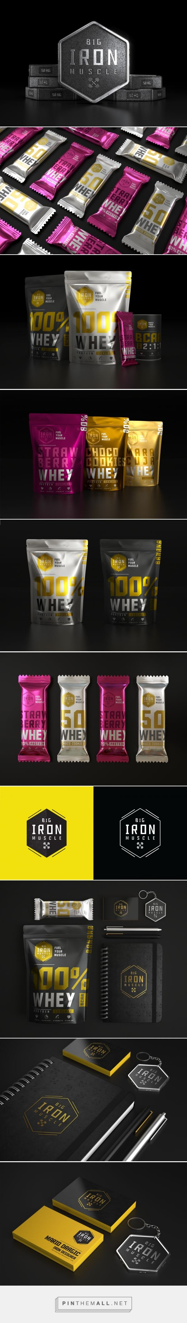 Big Iron Muscle supplements packaging design by Mario Dragic (Serbia) - http://www.packagingoftheworld.com/2016/08/big-iron-muscle.html