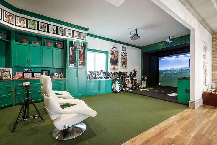 Pga golfer hunter mahan s golf simulator room crazy for Room design simulator free