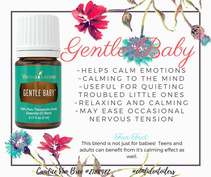 Young Living's Gentle Baby essential oil blend isn't just for babies! Everyone can benefit from the calming and relaxing effect. It can also help with occasional nervous tension.