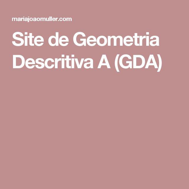 Site de Geometria Descritiva A (GDA)