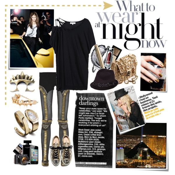 BLACK & GOLD, created by hanum on Polyvore