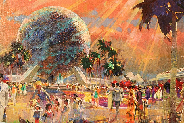 EPCOT Center Concept Art #epcot #disney #imagineering
