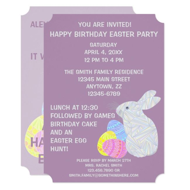 Create Your Own Invitation Zazzle Com Easter Themed Birthday Party Birthday Party Invitations Birthday Party Themes