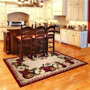 "New Apple Kitchen | NeW KITCHEN COUNTRY APPLE Area Rug 5'3""x 7'6"" Carpet"