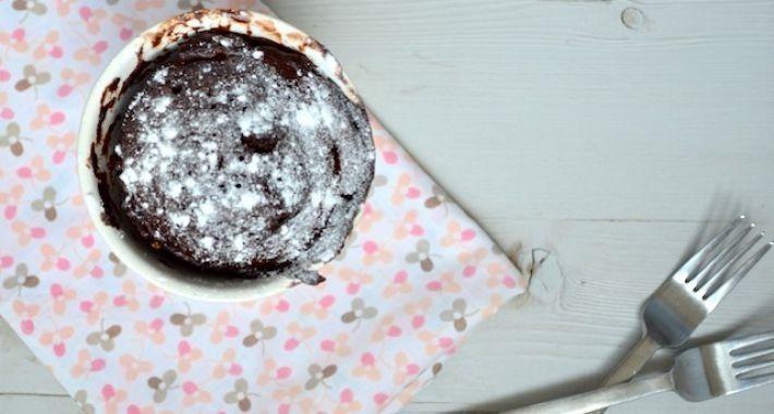 Cake in een mok en zó klaar!