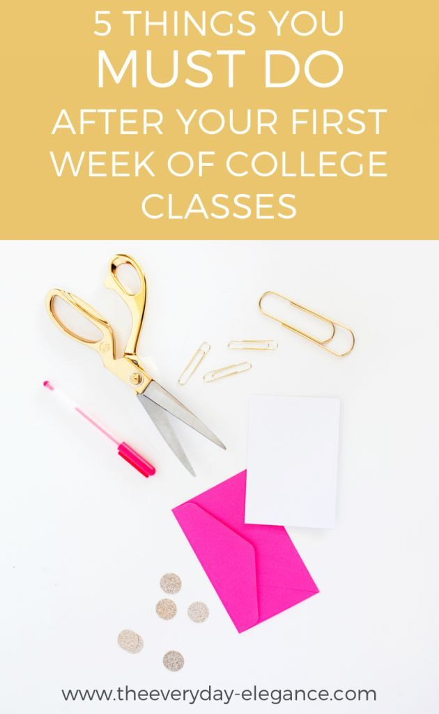 5 Things You MUST Do After Your First College Class | Tips EVERY college student should know!