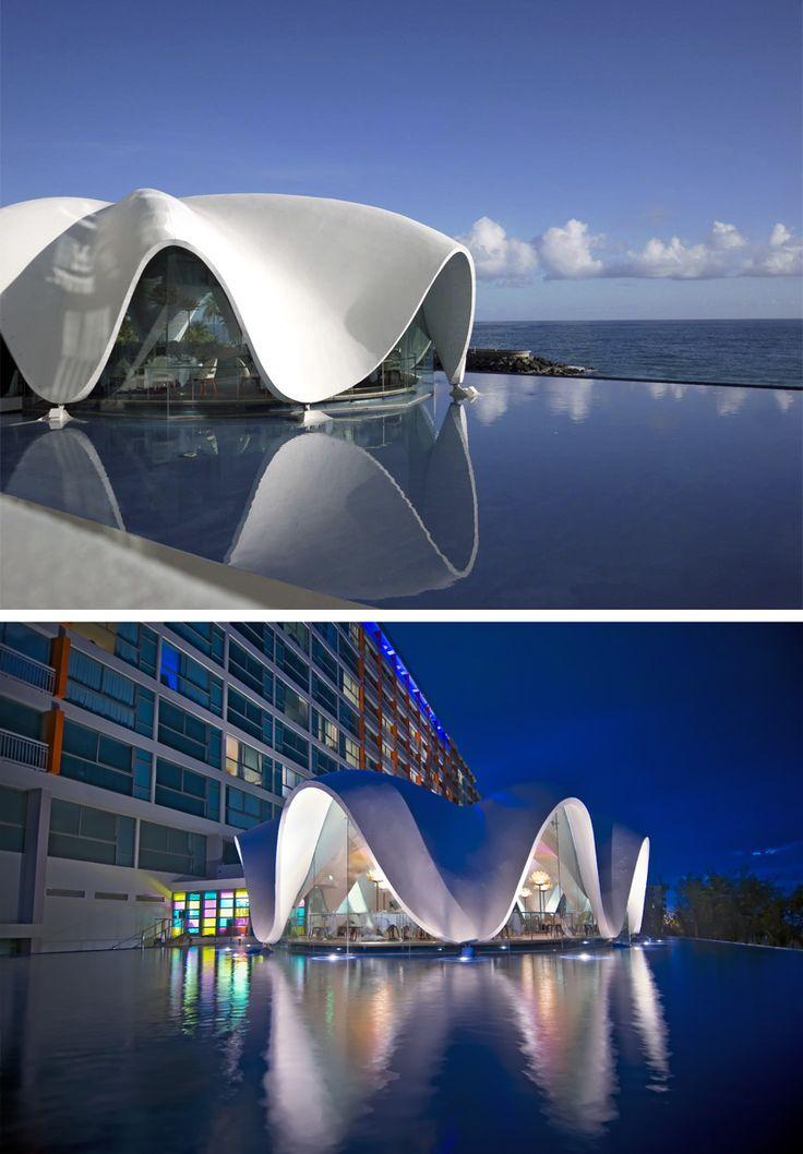 The 'Perla' Restaurant, originally built in 1958 - La Concha Resort, San Juan, Puerto Rico