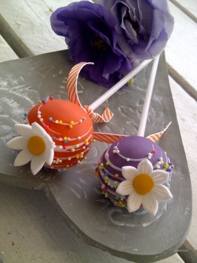 Bright Flowers By CreativeCakepops on CakeCentral.com