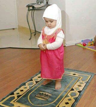 Muslim baby praying namaz. And Namaz (Salat) Complete Information List. Visit: http://corneey.com/qD1X9m