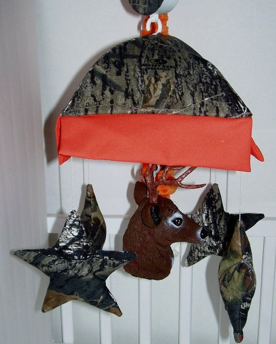 Mossy Oak Camo Crib Mobile with Deer Head by smallsproutsbaby, $95.00