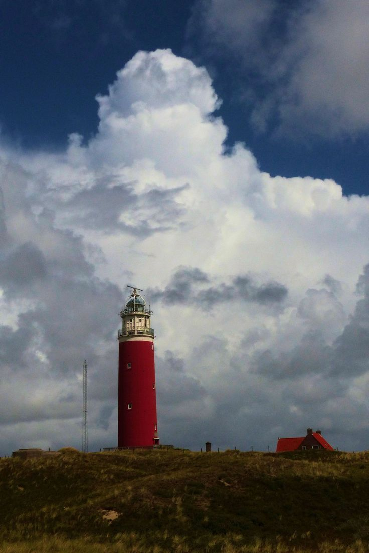 Vuurtoren, Texel, Noord-Holland.