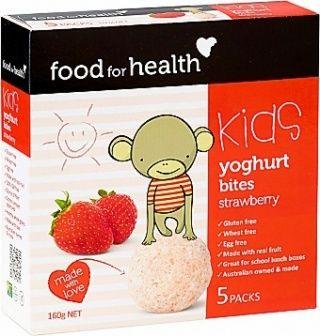 Food For Health Kids Yoghurt Bites Strawberry  (5Packs) 160g