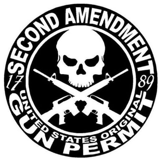 "PROTECTED BY 2ND AMENDMENT SECURITY Sticker For Home Windows & Doors 5.9"" x 5.9"" #UnbrandedGeneric"
