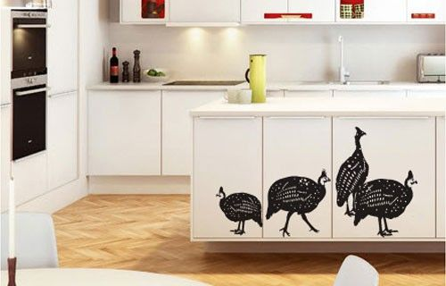 Guinea fowl vinyl wall stickers from Fantastick Wall Décor (South Africa)  #guineafowl #southafrica