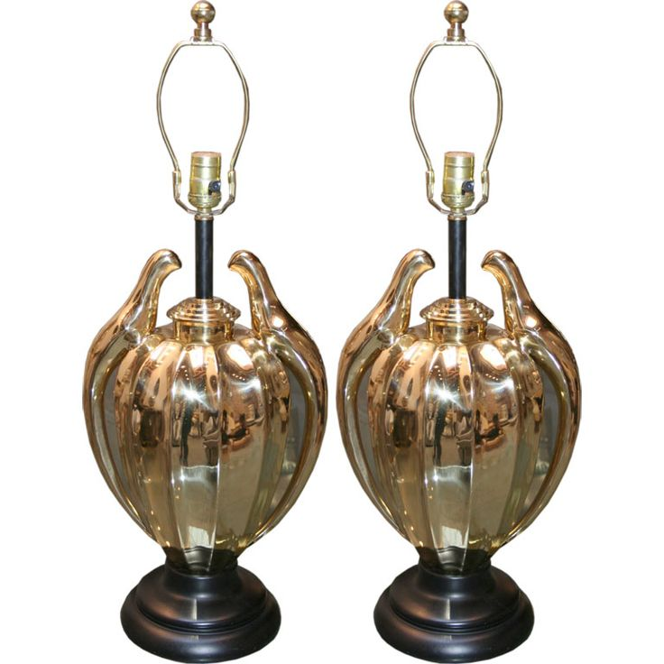 Pair of Frederick Cooper Love Birds Lamps