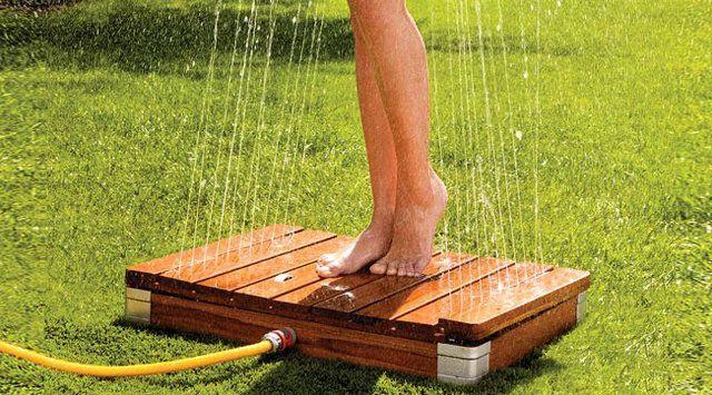 Outdoor Wooden Shower