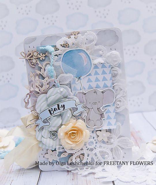Freetany Flowers: Детская открытка. Вдохновение от Оли Лещенко-Агрум