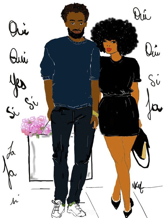 Poster signed by Nicholle KOBI #beautiful Brown black people girl woman queen boy man in paris #French #oui yes love