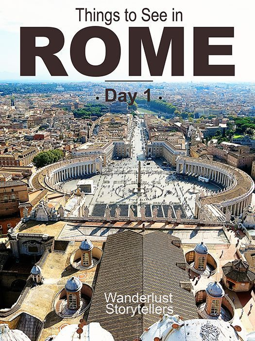 Things to See in Rome on Day 1.  Highlights include Vatican City, Vatican Museum and a Crypts, Catacombs and Bones Walking Tour!  Read more on wanderluststorytellers.com.au