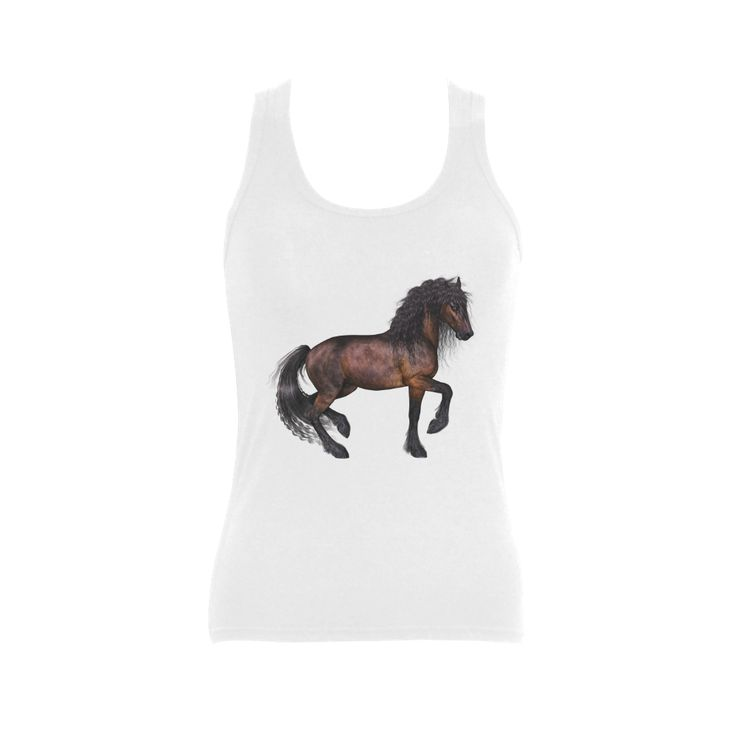 Steampunk Horse Women's Shoulder-Free Tank Top