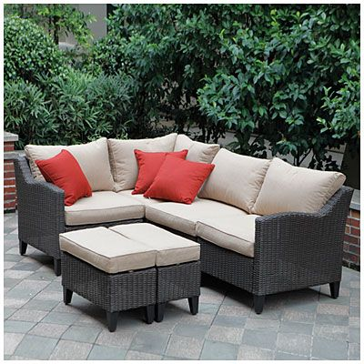 View Wilson Fisher Key Largo 6 Piece Modular Seating Set With Cushions Deals At Lots Outdoors Sectional Patio Furniture