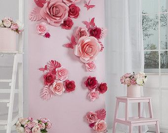 Items similar to Paper flowers backdrop/ Paper flower wall/Backdrop/Wedding backdrop/Sweet 16/Baby shower/Bridal shower/Christening/Birthday party/ Princess on Etsy
