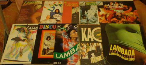 LOTTO 10 LP - LAMBADA - BRASIL - SAMBA