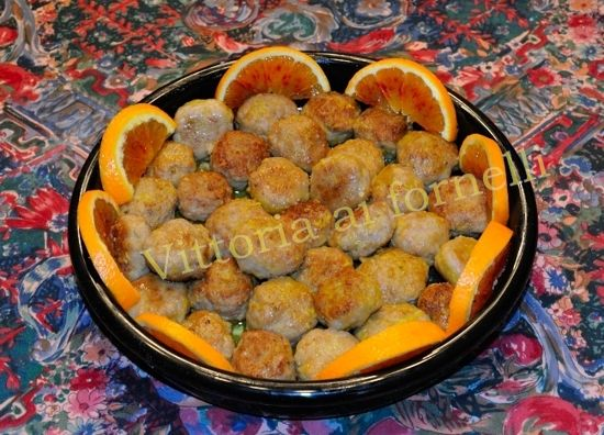 Polpettine di carne in salsa di arancia, secondo di carne