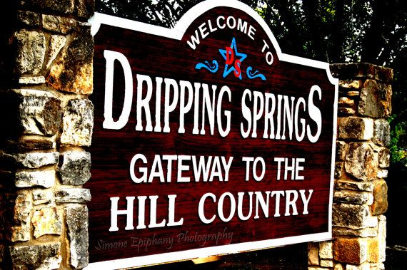 Dripping Spring Texas Welcome Sign by SimoneEpiphany on Etsy, $15.00