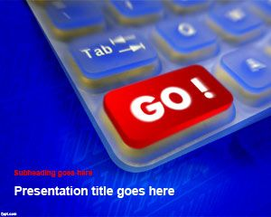Free Go Ahead PowerPoint template is a motivational PowerPoint design that you can use for presentations on technology and business