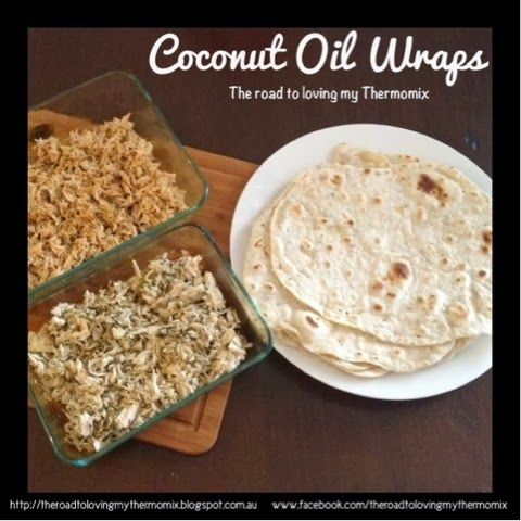 The other day I went to make some Tortillas for dinner and realised I had run out of olive oil.  Never fear! Coconut oil to the rescue! I used a unrefined virgin coconut oil so it has a delicious coconut flavour. These coconut flavoured wraps work really well with curry