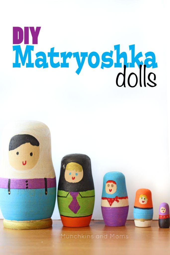 Diy Matryoshka Dolls Munchkins And Moms Matryoshka Doll Diy