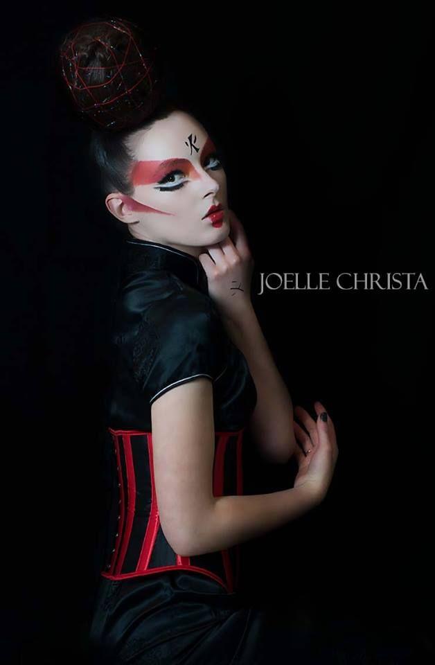 creative makeup  Geisha Inspired- by Aleksandra Pinneri of www.unveilthebeauty.com.au hair by Melissa Nicole Hair & Makeup