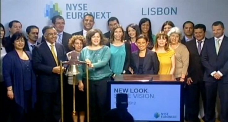 NYSE Euronext Lisbon employees celebrate today's brand launch.