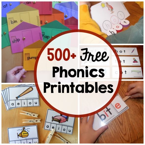 Over 500 free phonics printables for teaching reading! Love these phonics activities and games!!
