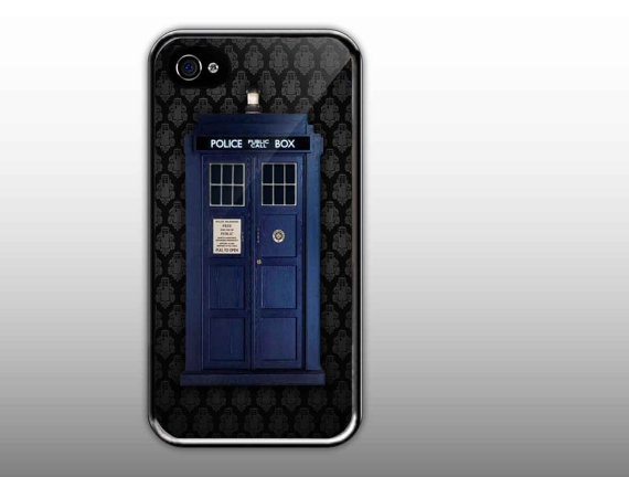 iPhone 4/4s Case  Tardis Door Doctor Who With by NewCaseDesign, $15.50