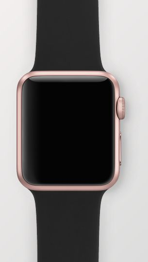 Apple Watch - 38mm Rose Gold with Black Sport Band. Oooooooh mmmmmm ggggg