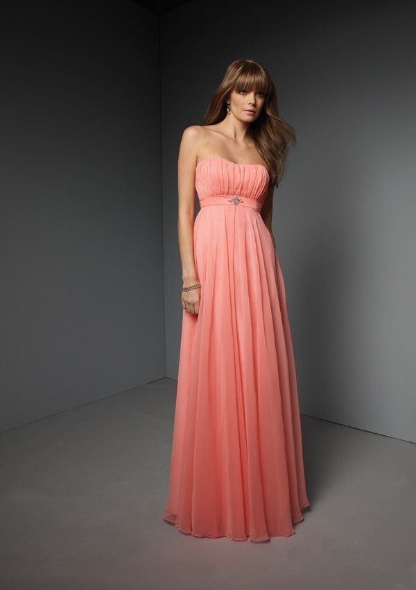 Coral Formal Dress for Wedding