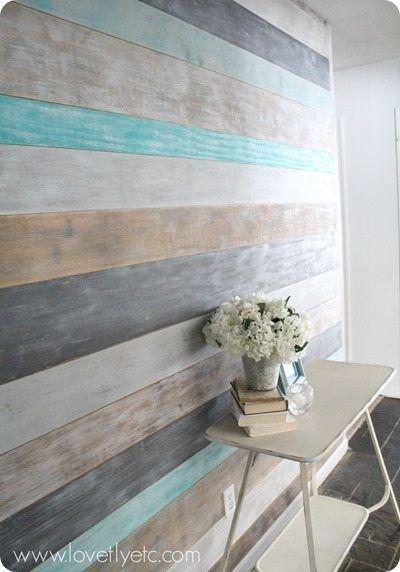 Dry brush plank wall