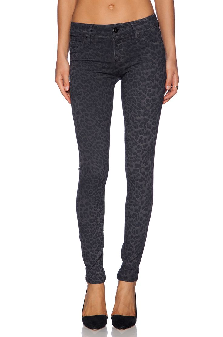 #REVOLVEclothing;  COATED LEOPARD SKINNY BLACK ORCHID $209.00