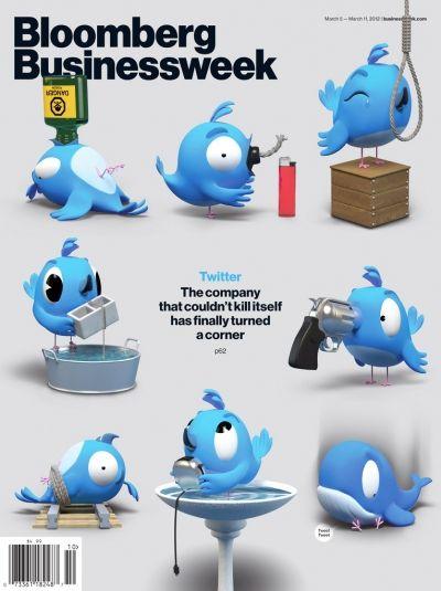 15 portadas de revistas dedicadas a Facebook y Twitter | Clases de Periodismo - via http://bit.ly/epinner: Design Inspiration, Bloomberg Businessweek, Magazines Design, Finals Turning, Graphics Designillustrationart, Character Design, Bigshot Toywork, Magazines Covers, Businessweek Covers