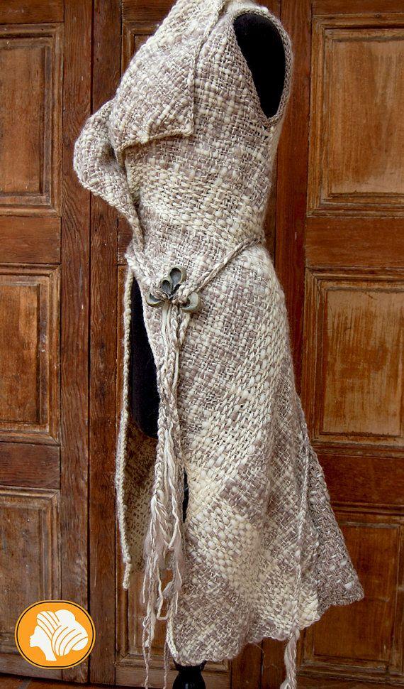 Kimono escocés beige y crema por Ullvuna en Etsy